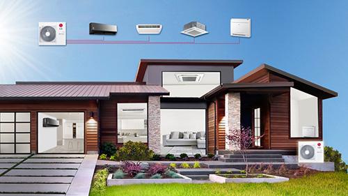 Multisplit klimatizace - řešení celého domu